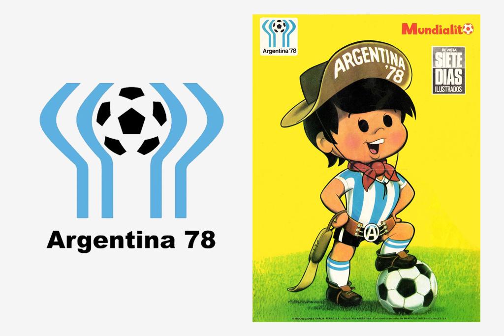 Logo y mascota (Gauchito) del Mundial de Argentina 1978