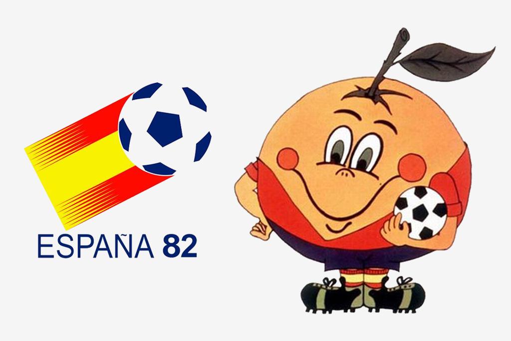Logo y mascota (Naranjito) del Mundial de España 1982