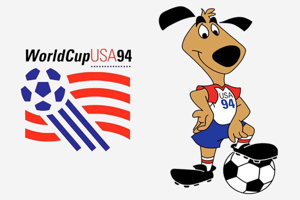 Logo y mascota (Skriter) del Mundial de Estados Unidos 1994