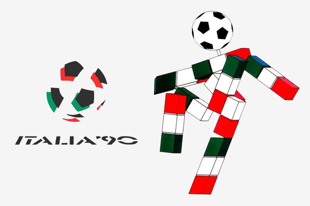 Logo y mascota (Ciao) del Mundial de Italia 1990
