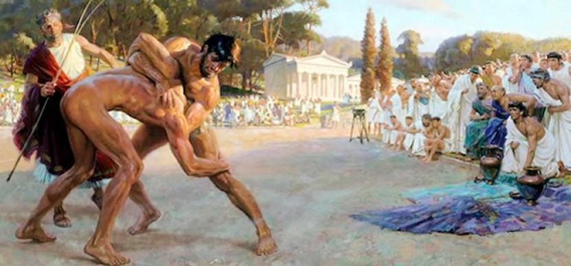 Lucha griega | Vía: elcodicevoynich.blogspot.pe