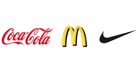 Grandes marcas diseño, Coca Cola, McDonalds, Nike