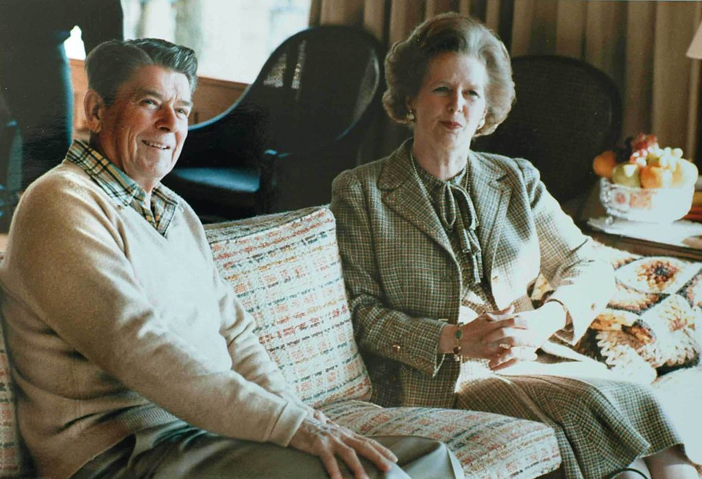 Margaret Thatcher y Ronald Reagan en 1984