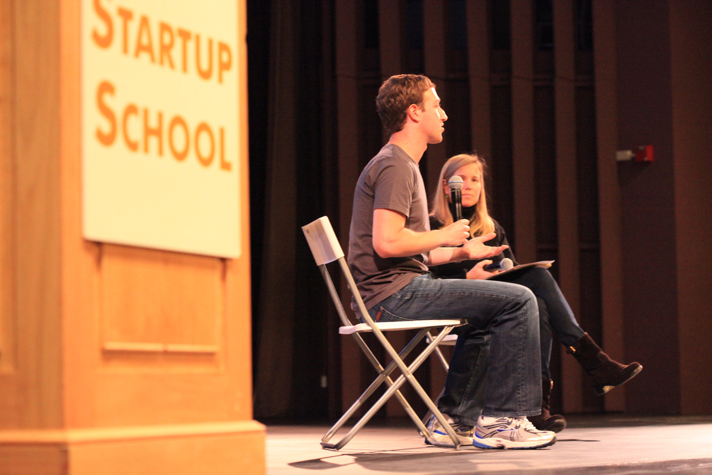 Mark Zuckerberg en la Startup School de Y Combinator