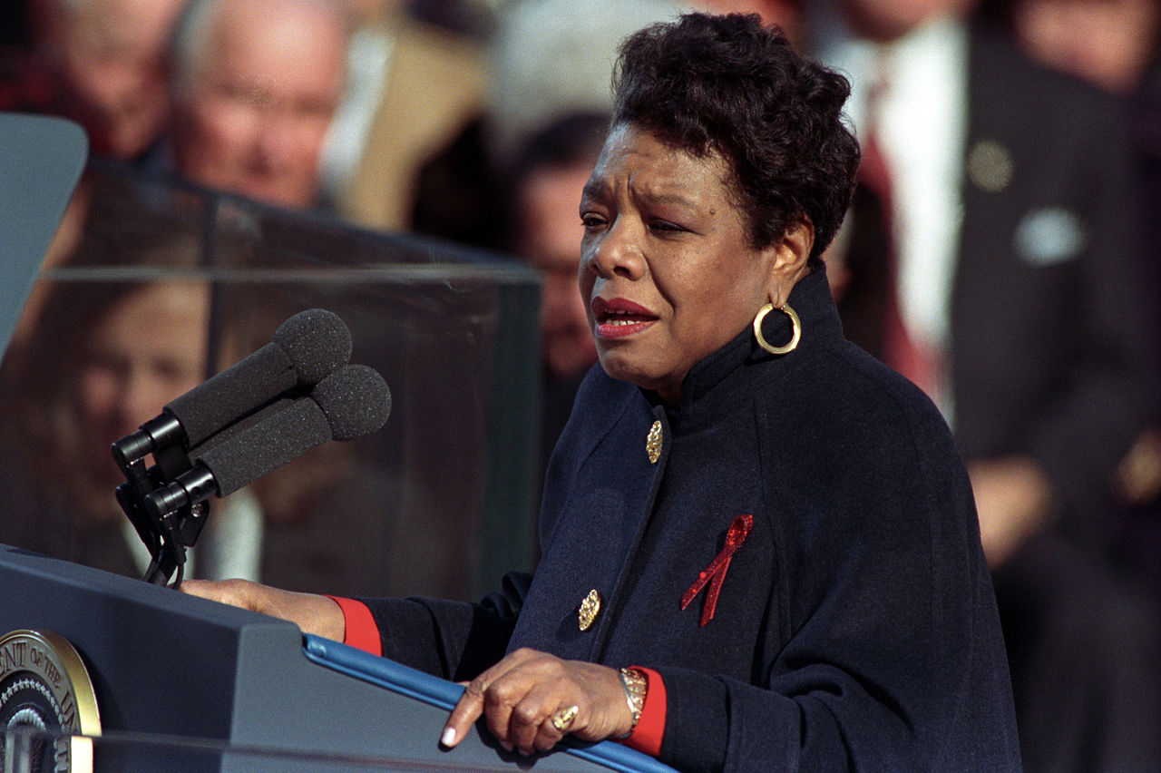 Maya Angelou en la inauguración del Presidente Bill Clinton