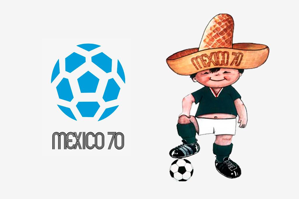 Logo y mascota (Juanito) de México 1970