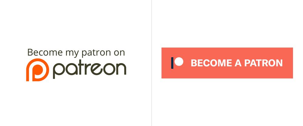 Logos antiguo y nuevo de Patreon
