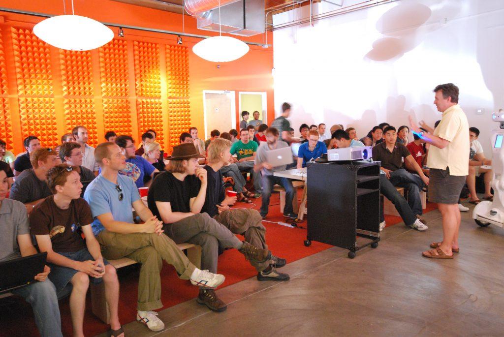 Paul Graham en conferencia de Y Combinator en 2009