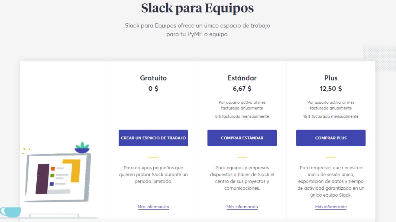 Precios de Slack