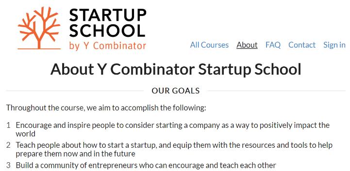 Startup School Curso Online Y Combinator
